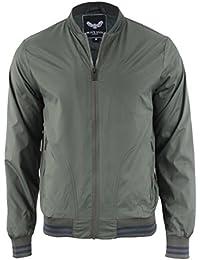Brave Soul Mens 'Rojo' Ribbed Hem Zip Up Harrington Bomber Jacket Coat Size S-XL