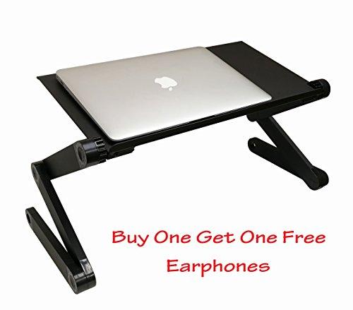 evst plegable ergonómica para ordenador portátil escritorio portátil bandeja altura ajustable mesa cama mesa
