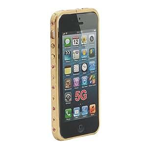 Aluminum Metal Rhinestone Bumper Case Cover For Iphone 5 /Iphone 5S