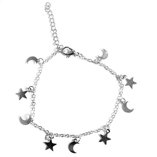 74eb3d8e39cb Hifuture Pulsera de luna de estrella para niñas