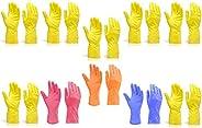 Gambit Cleaning Gloves Reusable Rubber Hand Gloves, Stretchable Gloves for Washing Cleaning Kitchen Garden (Co