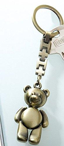 Portachiavi orsetto effetto oro antico