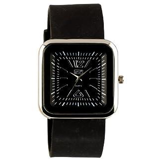 Eton 2897-0 – Reloj analógico de cuarzo para mujer con correa de silicona, color negro