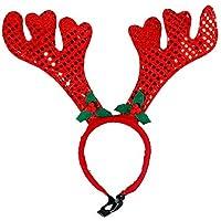NiceButy Pet Puppy Fascia Cappello Bellezza Accessori per Capelli Pet  Abbigliamento Christmas Costume Rosso Antlers 1PC 4fbd18dacf00