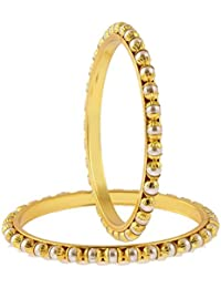 Zeneme Pearl Traditional Gold Plated Designer Bangles Jewellery For Women / Girls…