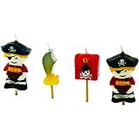 Tala Cooking Velas Piratas, Parafina, Multicolor, 11.3x2.7x14.2 cm