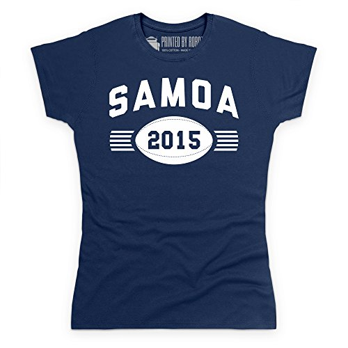 Somoa Supporter T-Shirt, Damen Dunkelblau