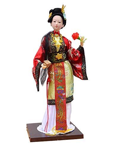 Black Temptation Chinesische alte Schönheit Vintage Puppe Restaurant Puppe Figur 10