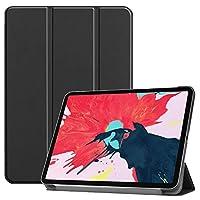 iPad Pro 11 inch 2020 Version, Three-fold Horizontal Flip Leather Case with Pen Holder - Black