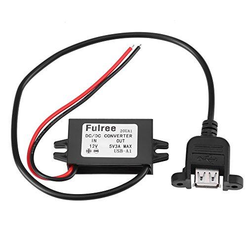 15w Voltaje De Convertidor Micro Usb Regulador Reductor Dc-Dc 12v a 5v 3a Para Coche Con Montaje En Panel Hembra Usb