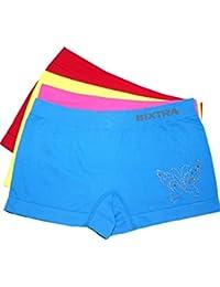 Girls Panty Schmetterling Glitzer 4er Pack Seamless mehrfarbig