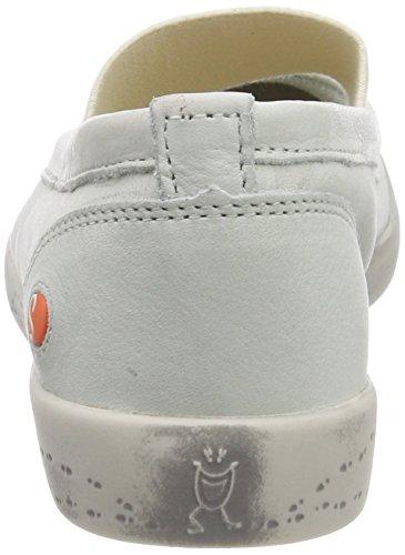 Softinos Damen Ion446sof Smooth Geschlossene Ballerinas Weiß (White)