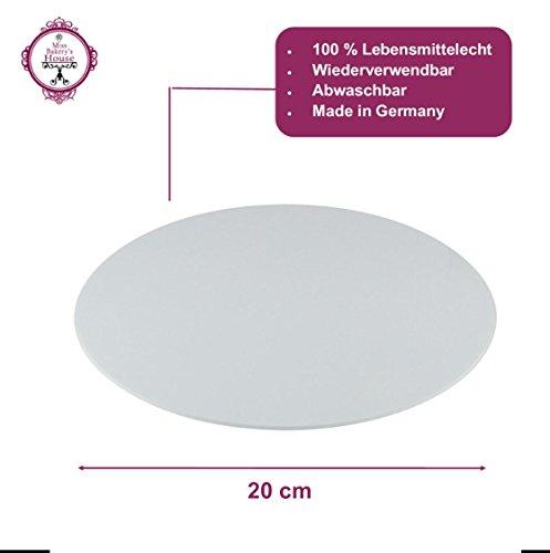 Tortenunterlage - weiß - Acryl - wiederverwendbar - rund - stabil - Kuchenplatte - Cake Board - Kuchenplatte (Ø 20 cm - rund) (Boards 20)