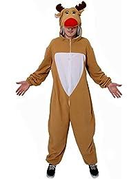 disfraz de reno adultos disfraz de navidad vestido mono ropa de navidad rudolph de pap noel