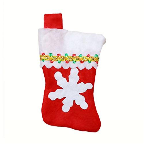 pygex (TM) 28pcs Natale festa di nozze regalo di compleanno piatti da tavola di Natale Decorazioni Tavola Set calze di Natale posate borsa 3 3