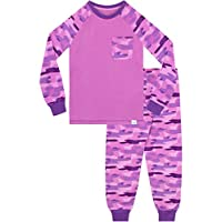 Harry Bear Girls Camouflage Pyjamas Snuggle Fit