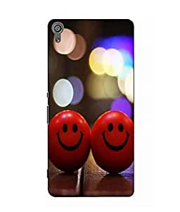 Make My Print Smiley Balls Printed Red Hard Back Cover For Sony Xperia XA Ultra Dual