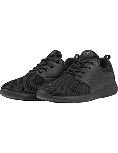 Urban ClassicsLight Runner Shoe - Scarpe da Ginnastica Basse Unisex - Adulto , Nero (Schwarz (blk/blk 17)), 45