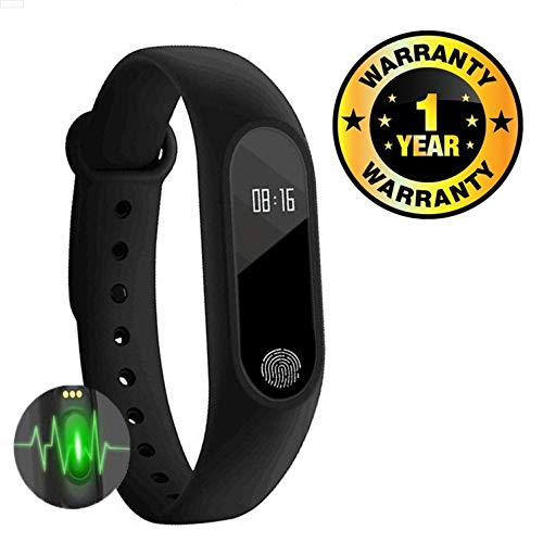 Cospex Smart Fitness Band with Heart Rate Sensor/Pedometer/Sleep Monitoring Functions Compatible with All Smartphones