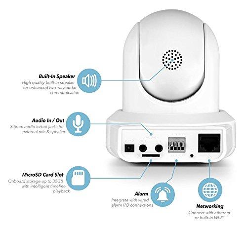 Amcrest ProHD IP2M-841B 1080P WiFi Telecamera senza fili con IP dotata di Pan/Tilt – Bianco
