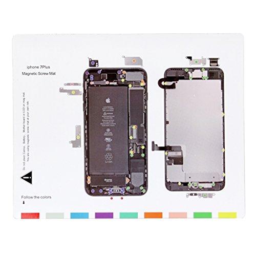 DELANSHI Magnetschrauben Matte für iPhone 7 Plus, Größe: 24,5 cm x 20 cm Handy-Wartungstool Reparaturwerkzeuge - Mat Iphone Schraube 4