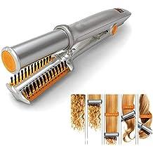 2 en 1 Hierro giratorio, Plancha de pelo de cerámica Rizador de pelo Rodillo automático