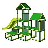 move and stic Spielturm Kletterturm 6351 Gesa mit Rutsche für Kleinkinder mit Kriechtunnel Mas