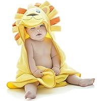 Little Tinkers World Serviette À Capuche Lion Extra Douce Pour Bébé - Serviette De Bain Pour Bébé 100% Coton - Parfaite Cadeau Fête Prénatale - Nouveau-Nés Ou Nourrissons Filles Et Garçons