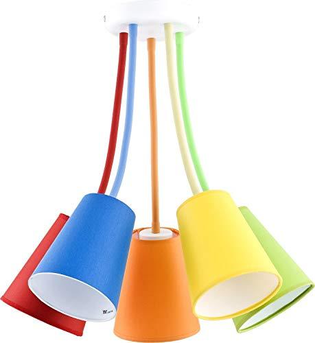 Bunte Deckenlampe Kinderzimmer flexibel verstellbare Arme 5-flammig stylisch BANTA Kinder Leuchte Decke -