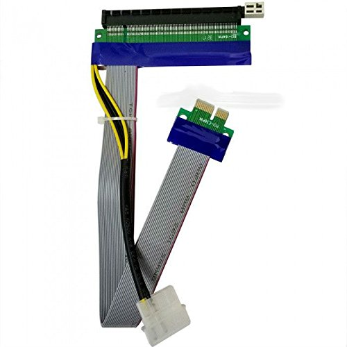 PCI-E PCI Express 16X to 1X Riser Card Adapter Extender Flex Flexible Extension Cable -
