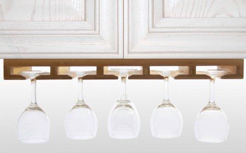 Weinglashalter Gläserhalter Gläserregal aus Bambus (Küche Aufbewahrung & Ordnungssysteme aus...
