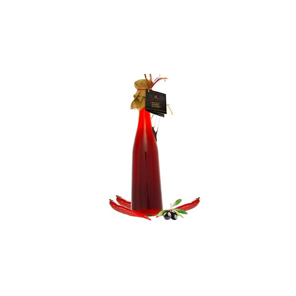 Chili L Hot Chili Olivenl Aus Nativem Extra Vergin Olivenl Griechenland Ungefiltert Kaltgepresst Traditionelle Herstellung Im Familienbetrieb Amphore Romana Flasche 750ml