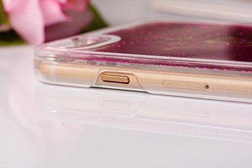 """yaobaistore iPhone 6(11,9cm) mignon Lovely Creative Design Fluide Dynamique Bling Glitter Star Drift Débit Sable Skin Coque rigide pour Apple iPhone 6(11,9cm) iPhone 6G, livré avec stylet """"ubmsa Argent - argent"""