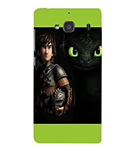 A2ZXSERIES Disney Dragon Back Case Cover for Xiaomi Redmi 2S/Xiaomi Redmi 2/Xiaomi Redmi 2 Prime