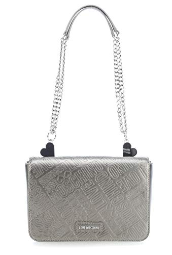 Love Moschino Metallic Embossed Schultertasche Gold/Silber -