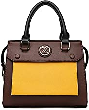 Zeneve London Satchel Bag for Women, Brown, 118S1-4