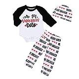 i-uend 2019 Baby Overalls - Neugeborenes Baby Boy Girl Brief Strampler Tops Hosen Hut Set Valentine Outfits für 0-18 Monate