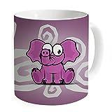 """okoukiu elefante taza taza de café taza de té–regalo para cumpleaños, Navidad y nuevo year-3.7""""x 3.1"""", 11oz"""