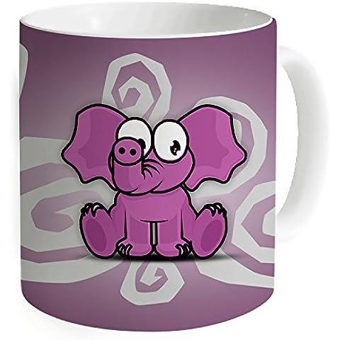 """okoukiu elefante Mug–Tazza da tè personalizzato regalo per compleanno, Natale e nuovo year-3.7""""X 3.1"""", 11oz"""