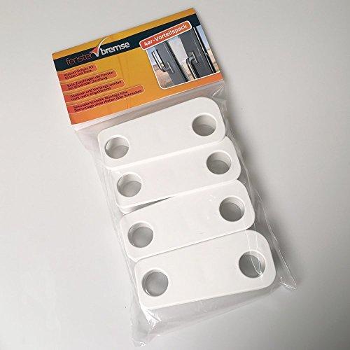 Lichtenstein Medien Fensterbremse 4er-Vorteilspack, Zuschlagschutz, Kipp-Schutz, Katzen-Klemmschutz