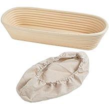 ... ratán Banneton Brotform tamaño 35 x 15 x 8 cm, con capacidad para 1 kg de masa de ratán, banneton Brotform, SourDough a prueba de polvo, pan artesanal.