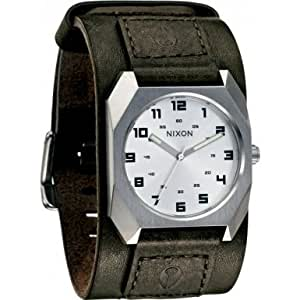 Nixon A480-1130 Gents The Scout Leather Strap Silver Dial Watch