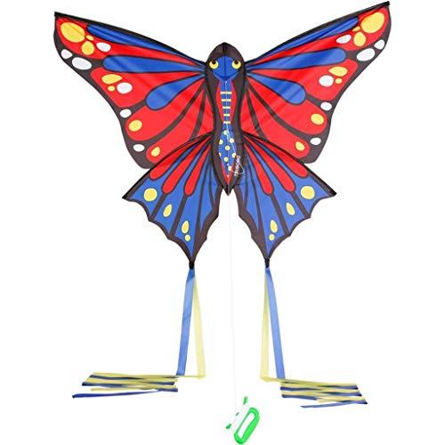 AYLS Schmetterlingsförmige Drachen, Erwachsene, Anfänger im Freien, gefärbt mit Angelrollen-Kinderdrachen. Einfach zu Fliegende Drachen, 1,2 * 3 m