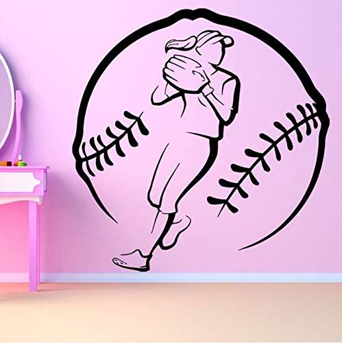 er Girl Entfernbare Wandaufkleber für Fitnessraum Hintergrund Wandtattoos Wohnzimmer Kunst Aufkleber 42x42cm ()