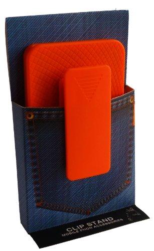 Avcibase Hardcase Schutzhülle mit Gürtel-Clip Stand für Apple iPhone 4S orange