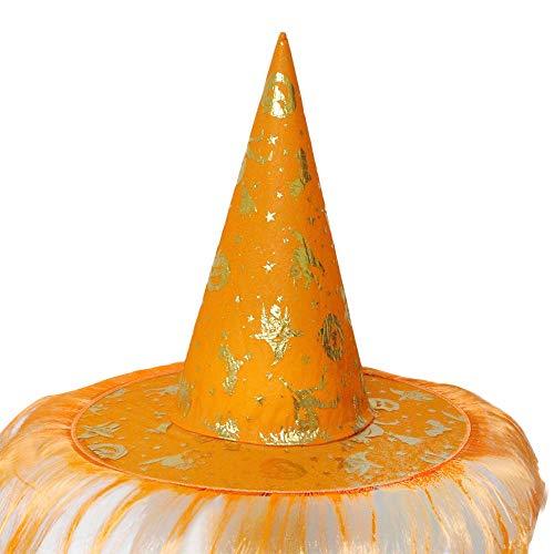 OYSOHE Halloween Hut Damen Herren Hexenhut für Halloween Kostüm Zubehör Fluff Solide Cap(Orange,Einheitsgröße)