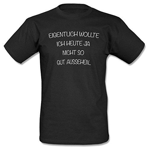 Eigentlich wollte ich T-Shirt Men Schwarz-XL
