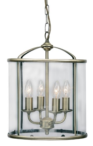 Fern Lantern Antique Brass Finish