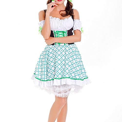 Renaissance Maiden Für Erwachsene Kostüm - holitie Damen Kleider Kleid bayerischen Cosplay
