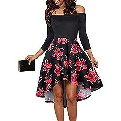 Vectry Vestidos para Niña Vestidos Casuales Juveniles Vestidos De Coctel Cortos Elegantes Moda Mujer 2019 Rebajas Vestidos Vestidos Mujer Verano 2019 Vestidos Playa Vestidos Rojo